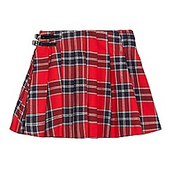 bluezoo - Girs' red checked kilt