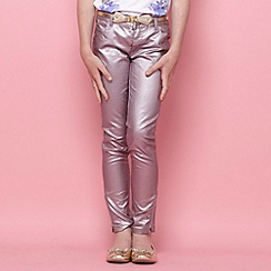 Butterfly by Matthew Williamson - Designer girl's lilac metallic jeans
