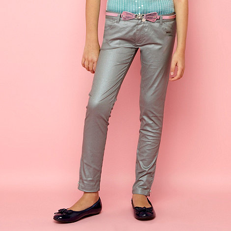 bluezoo - Girl+s metallic belted jeans