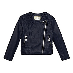 Star by Julien Macdonald - Girls' navy biker jacket