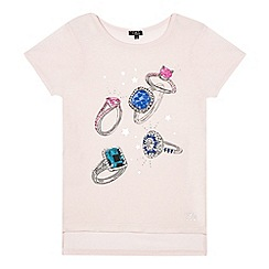 Star by Julien Macdonald - Girls' pink gem rings print t-shirt