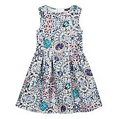 Star by Julien Macdonald - Girls' multi-coloured jewel print scuba dress