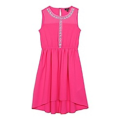 Star by Julien Macdonald - Girls' pink stone embellished dress
