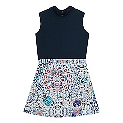 Star by Julien Macdonald - Girls' navy jewel print dress