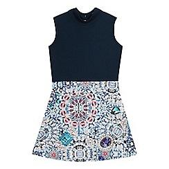 Star by Julien Macdonald - Girls' navy jewel print dress