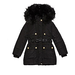 Star by Julien Macdonald - Girls' black belt padded coat
