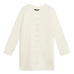 Star by Julien Macdonald - Girls' cream cable knit gem applique jumper