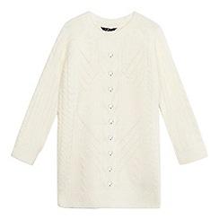 Star by Julien Macdonald - Girls' cream cable knit gem applique jumper