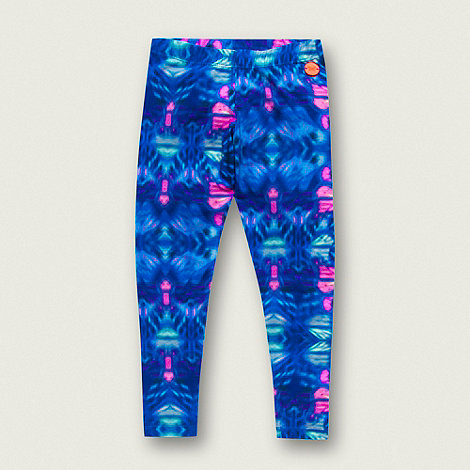 Butterfly by Matthew Williamson - Designer girl+s blue graphic butterfly leggings