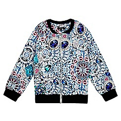 Star by Julien Macdonald - Girls' multi-coloured gem print bomber jacket