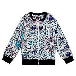 Star by Julien Macdonald - Girls' multi-coloured gem print scuba jacket