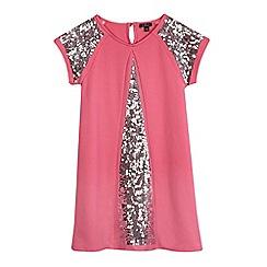 Star by Julien Macdonald - Girls' pink sequin shift dress