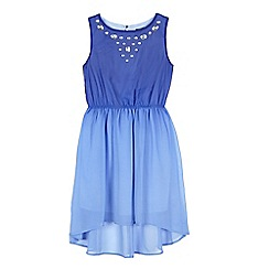 Star by Julien Macdonald - Girls' blue ombre-effect gem embellished dress