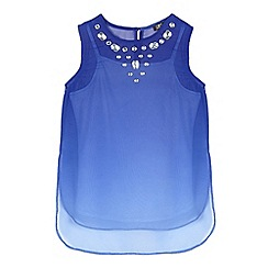 Star by Julien Macdonald - Girls' blue gem embellished top