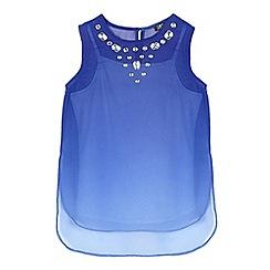 Star by Julien Macdonald - Girls' blue gem embellished top