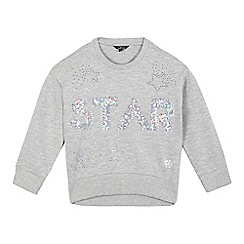 Star by Julien Macdonald - Girls' grey 'star' sequinned jumper