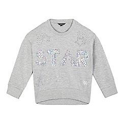 Star by Julien Macdonald - Girls' grey 'star' sequinned jumper