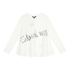 Star by Julien Macdonald - Girls' cream 'Fabulous' sequinned top