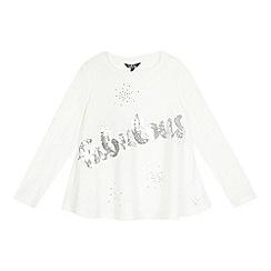Star by Julien Macdonald - Girls' cream 'Fabulous' sequinned top