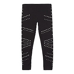 Star by Julien Macdonald - Girls' black eyelet leggings