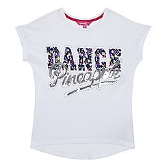 Pineapple - Girls' white sequinned logo top