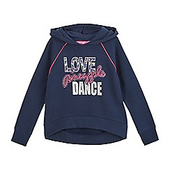 Pineapple - Girls' navy logo print hoodie