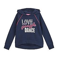 Pineapple - Girls' navy logo print hoodie