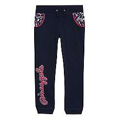 Pineapple - Girls' navy logo print jogging bottoms