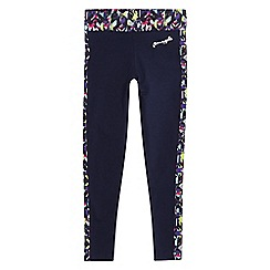 Pineapple - Girls' navy printed trim leggings