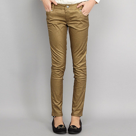 Star by Julien Macdonald - Designer girl+s gold metallic trousers