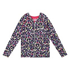 Pineapple - Girls' multi-coloured printed zip through hoodie