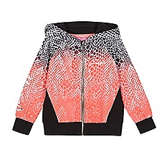 Pineapple - Girls' coral ombre snakeskin-effect print hoodie