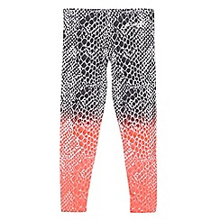 Pineapple - Girls' coral ombre snakeskin-effect print leggings