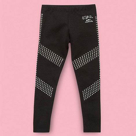 Star by Julien Macdonald - Designer girls+ black linear studded leggings