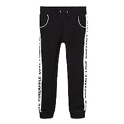 Pineapple - Girls' black quilted joggers