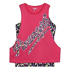 Pineapple - Girls' pink logo print vest set