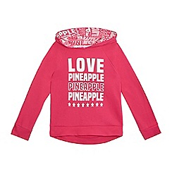 Pineapple - Girls' pink logo print hoody