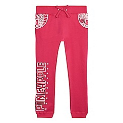 Pineapple - Girls' pink logo print joggers