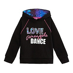 Pineapple - Girls' black pull-on hoodie