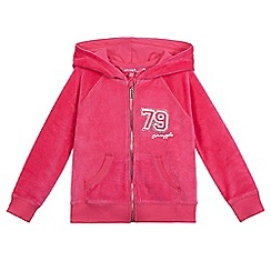 Pineapple - Girls' pink logo print hoodie