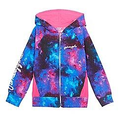 Pineapple - Girls' pink space dye zip-up hoodie