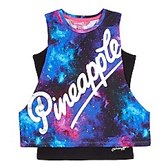 Pineapple - Girls' multicoloured logo print drop arm vest top