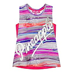 Pineapple - Girls' multi-coloured marble print cami and vest set