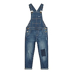Mantaray - Girls' blue denim dungarees