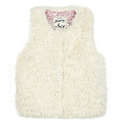 Mantaray - Girls' cream shearling gilet