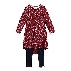 Mantaray - Girls' multi-coloured floral dress and leggings set