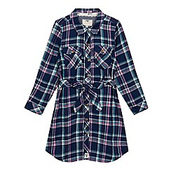 Mantaray - Girls' navy checked print dress