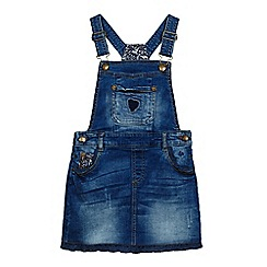 Mantaray - Girls' blue denim dungaree dress