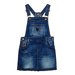 Mantaray - Girls' blue denim dungaree dress
