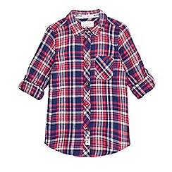 Mantaray - Girls' pink checked print shirt